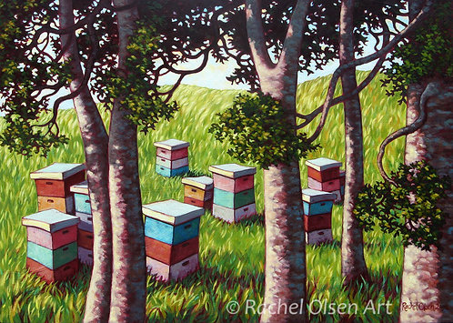 Beehives & Kauri Greeting Card