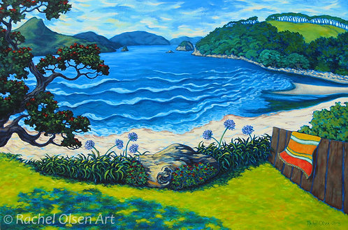 Summer Afternoon Cooks Beach Greeting Card
