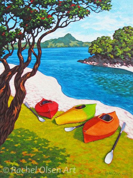 Purangi Kayaks Greeting Card