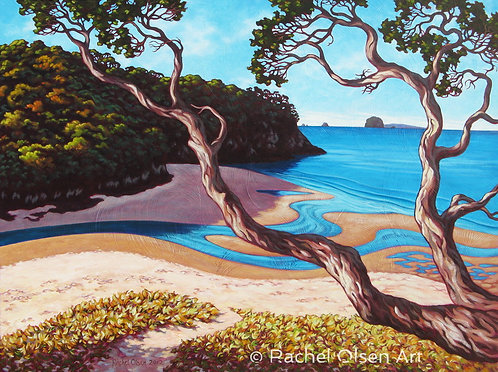 Cooks Beach Estuary Greeting Card