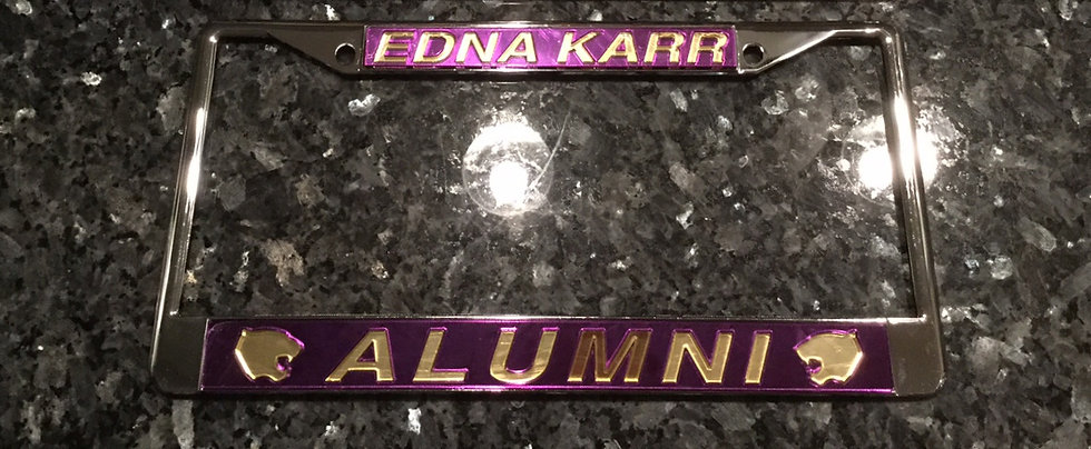 Karr Alumni Frame in Purple with Gold Lettering