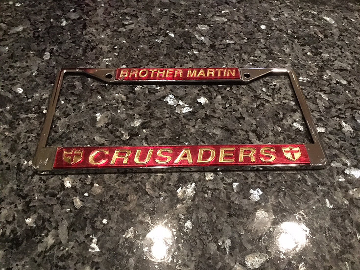 "Brother Martin ""Crusaders"" Frame in Crimson with Gold Lettering"