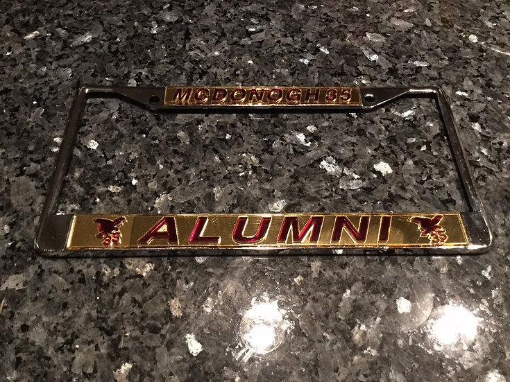 McD35 Alumni Frame in Gold with Maroon Lettering