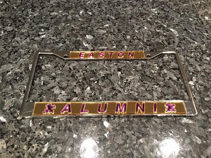 Warren Easton Alumni Frame Gold with Purple Lettering