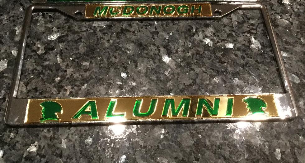 John McDonogh High School Plate Frame Gold with Green Details