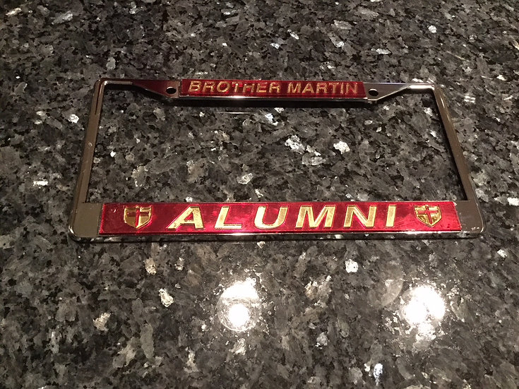 Brother Martin Alumni Frame in Crimson with Gold Lettering