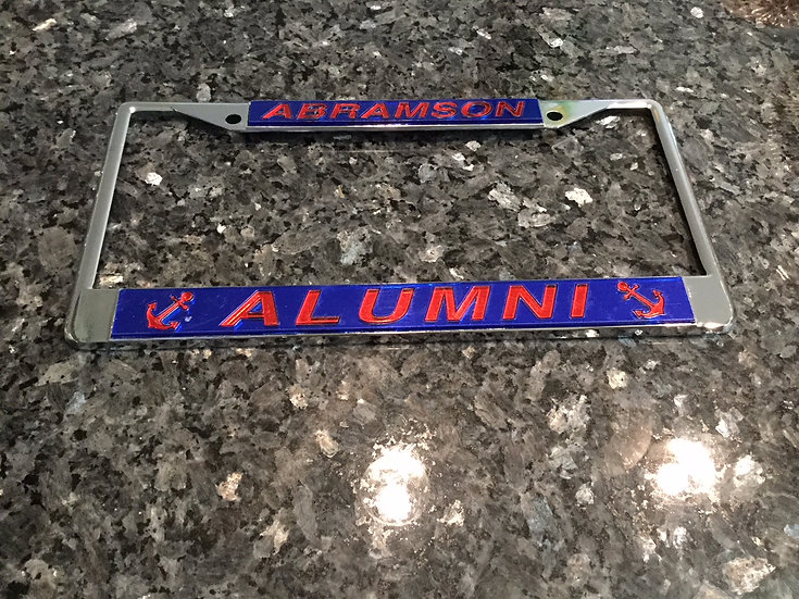 Abramson Alumni License Plate Frame in Blue with red details