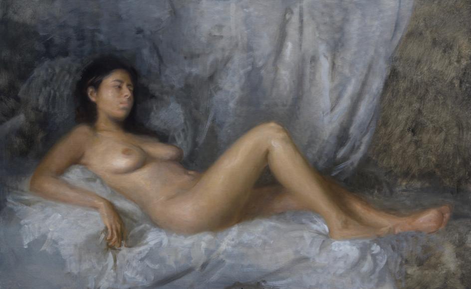 Reclining nude of Rominha
