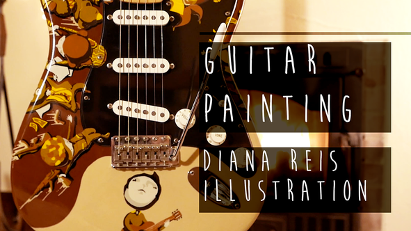 DRAWING EVERYWHERE . Guitar Painting