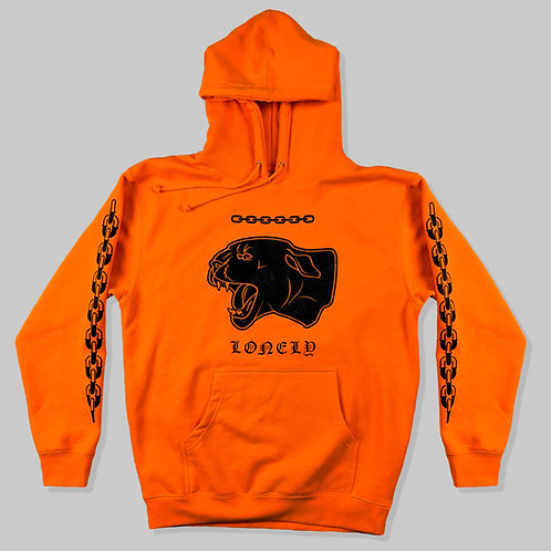 Lonely Panther Heavyweight Hoodie Safety Orange