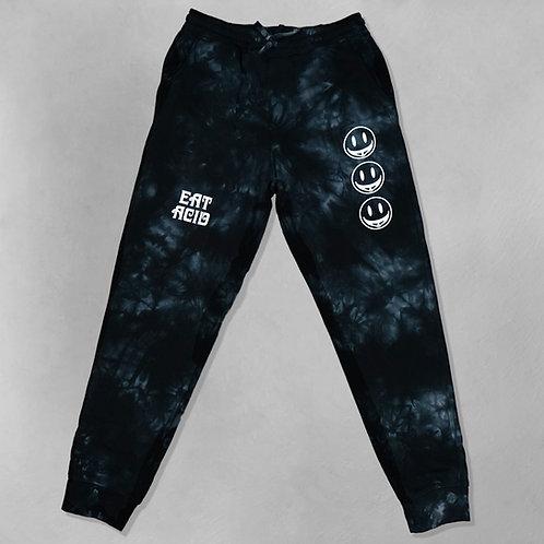 Acid Face Tie Dye Fleece Pants
