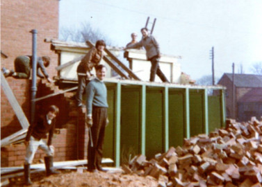 Demolishing the girl's toilets