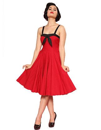 Sara Circle Dress Red