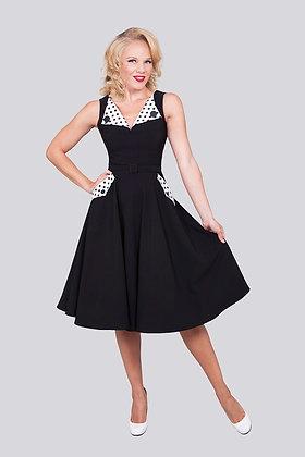 Brigit Circle Dress Black