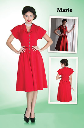 Marie Dress Red