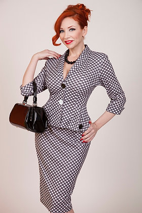 Checkers Pencil Skirt