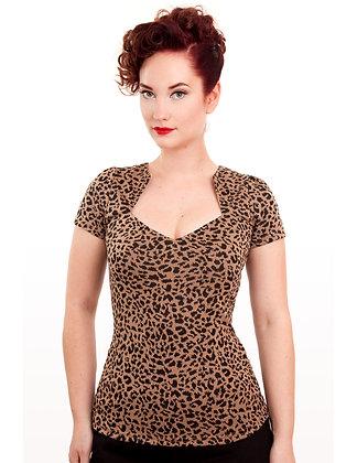 Leopard Sophia Top