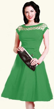 Alika Circle Dress Green