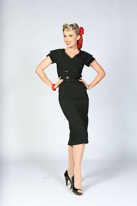 Secretary Pencil Dress Black