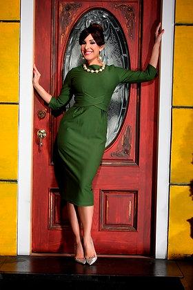Vickie Pencil Dress Green