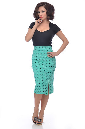 Mint Polka Dot Skirt