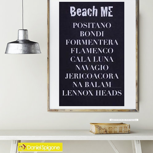 Poster Beach Me Size A1