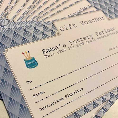 Emmas Pottery Parlour Gift Card