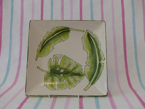 Tropical Leaves Square Platter
