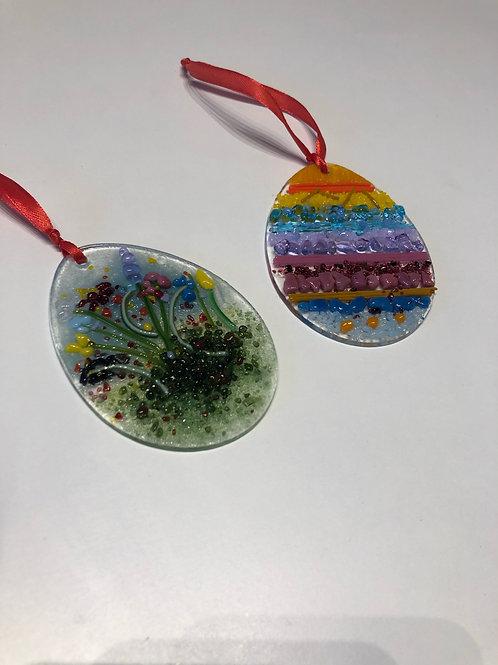 Easter egg Glass Fusing Sun Catcher Kit