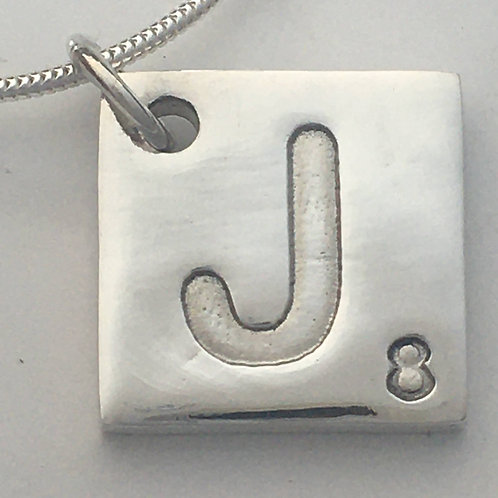 Scrable Type Pendant, Any Letter and Number, Pendant Only