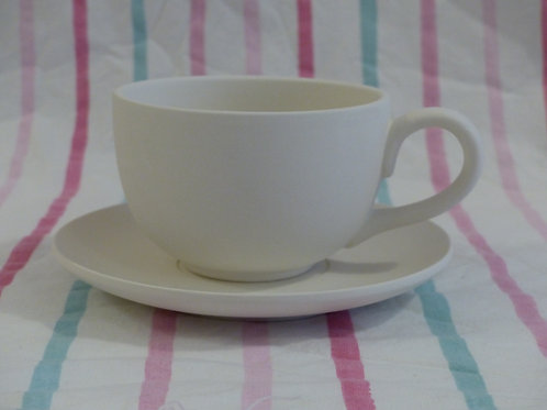 Large Cappuccino cup and saucer