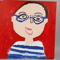 A painted Self-Portrait on a Canvas.jpeg