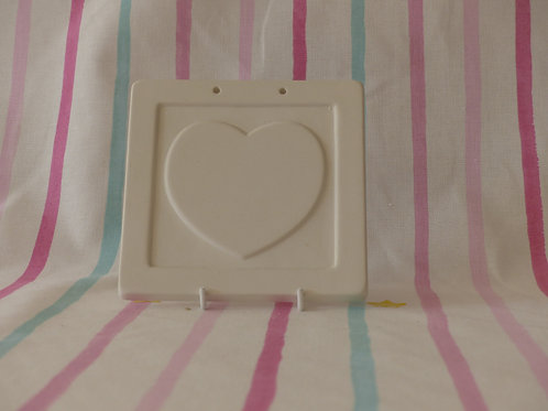 Square Plaque With Heart
