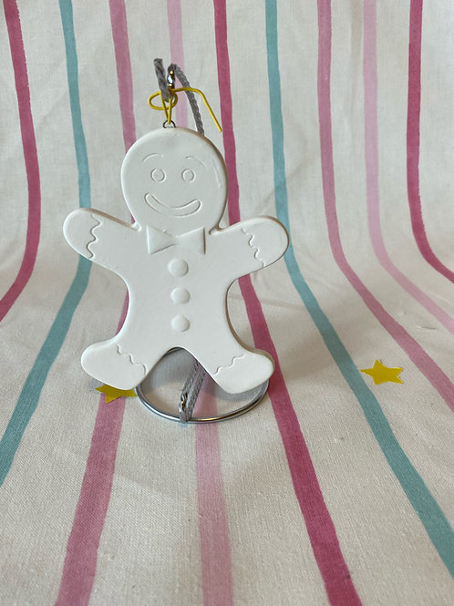 Christmas Flat Hanging Bauble Gingerbread Man