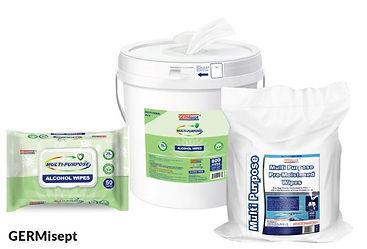 GERMisept Multi-Purpose Sanitizer Wipes.