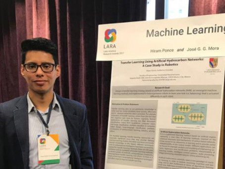 Hiram Eredín Ponce,  Premio Google a la Investigación