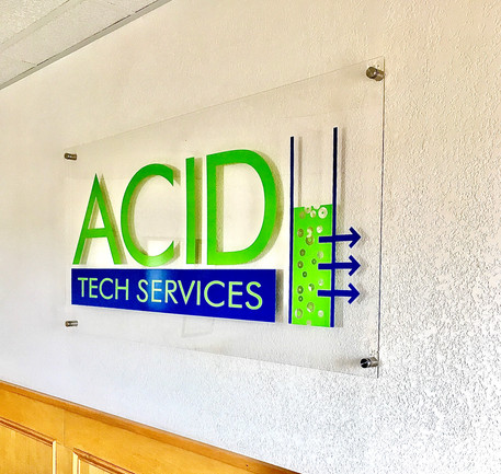 ACID Tech Services Acrylic Sign Right Vi