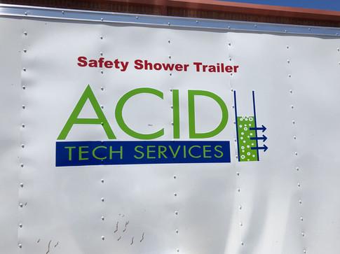 ACID Tech Services Safety Shower Trailer