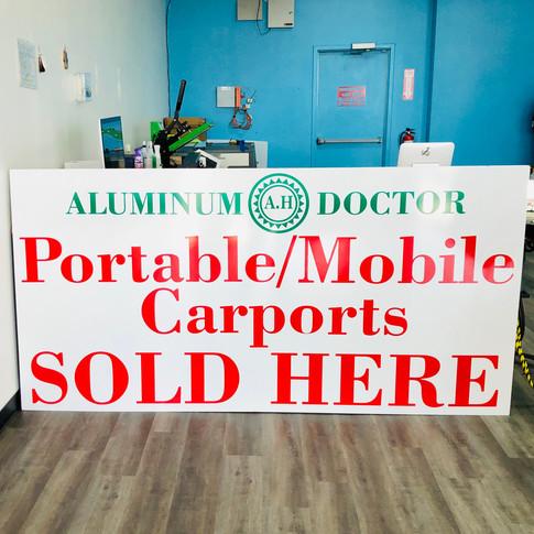 Aluminum Doctor Sign