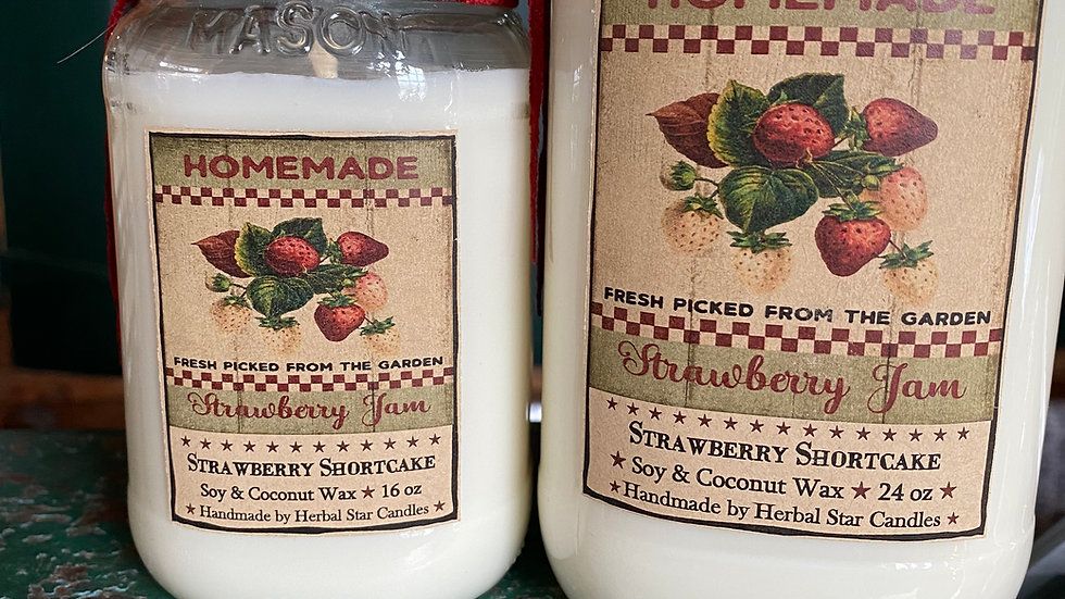 Strawberry Shortcake Wax Candle