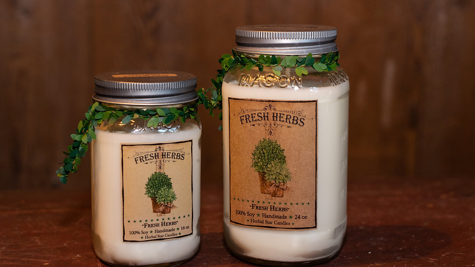 Fresh Herbs Candle