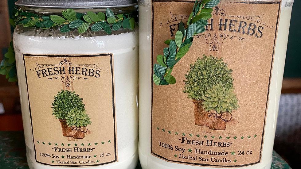Fresh Herbs Wax Candle