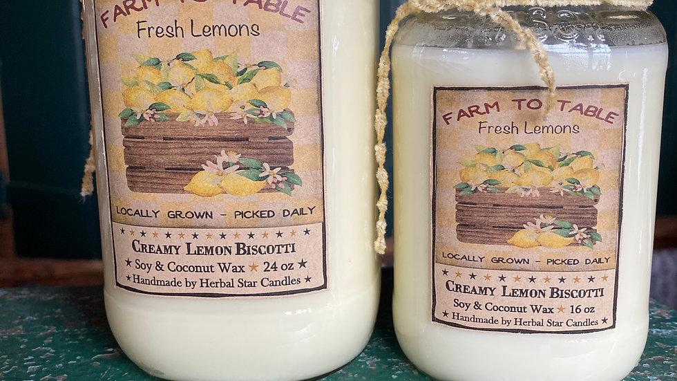 Creamy Lemon Wax Candle