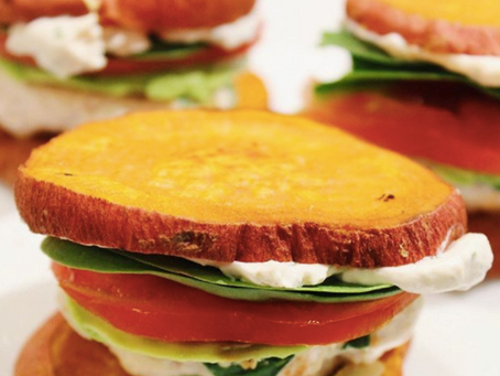 Mini Sweet Potato Burgers