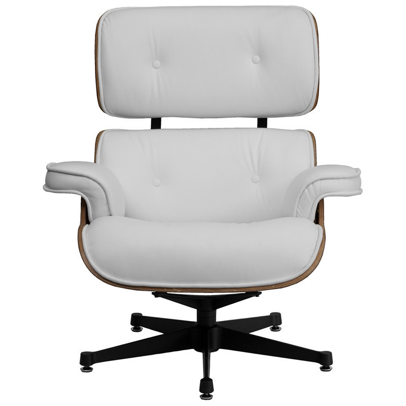 eames style lounge chair white leather