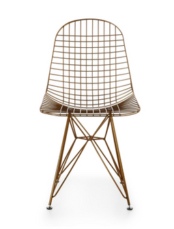 dkr gold wire chair