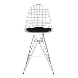 eames style dkr wire bar chair black cushion
