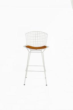 bertoia wire bar chair in white