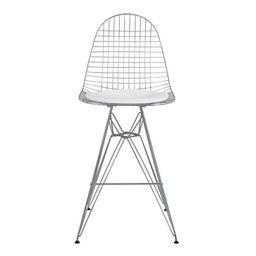 eames style dkr wire bar chair white cushion