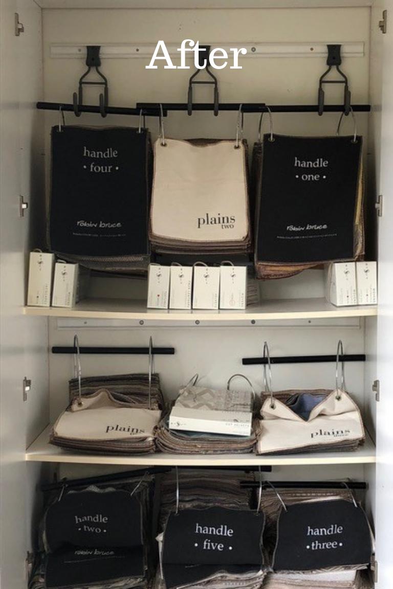 Organized Fabric Samples